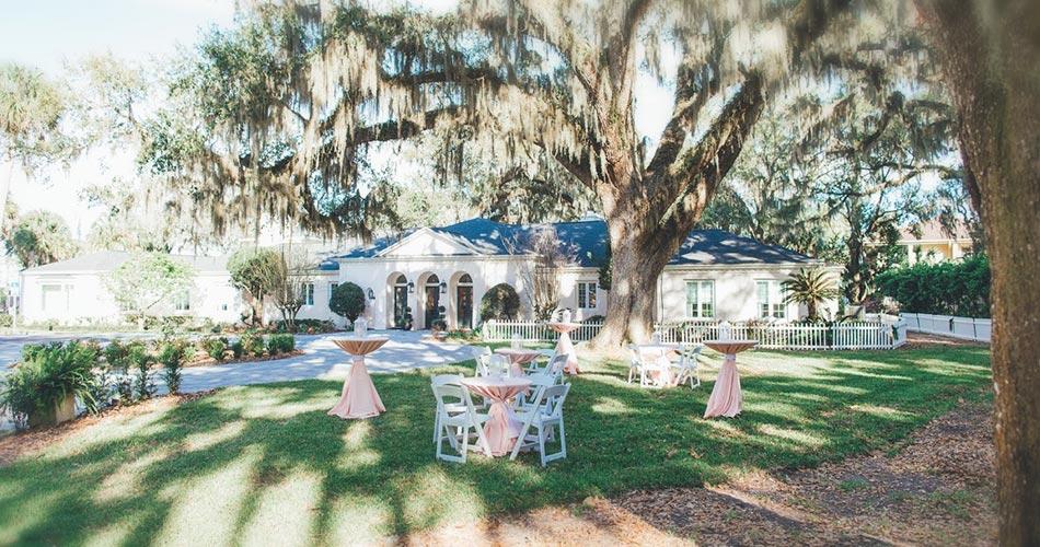 Azaleana Manor outdoor reception tables