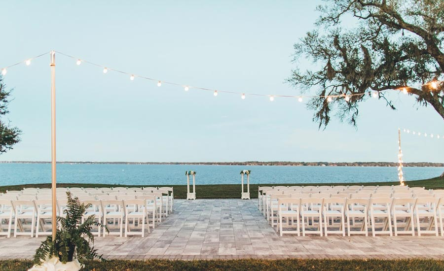Water view wedding